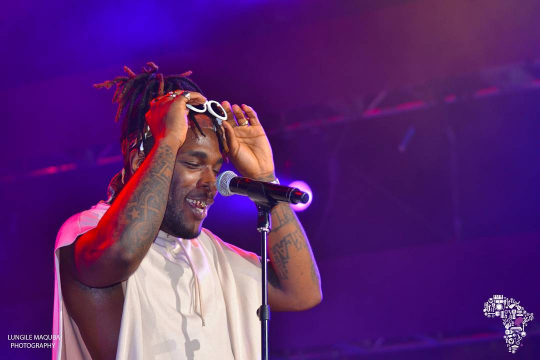 Burna Boy at Murat Egyptian Room