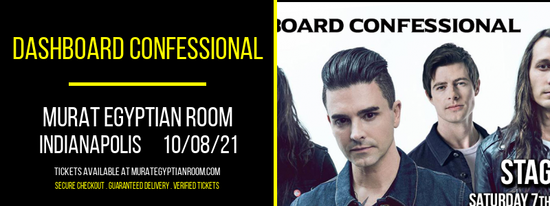 Dashboard Confessional [CANCELLED] at Murat Egyptian Room