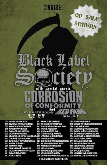 Black Label Society, Corrosion of Conformity & Eyehategod at Murat Egyptian Room